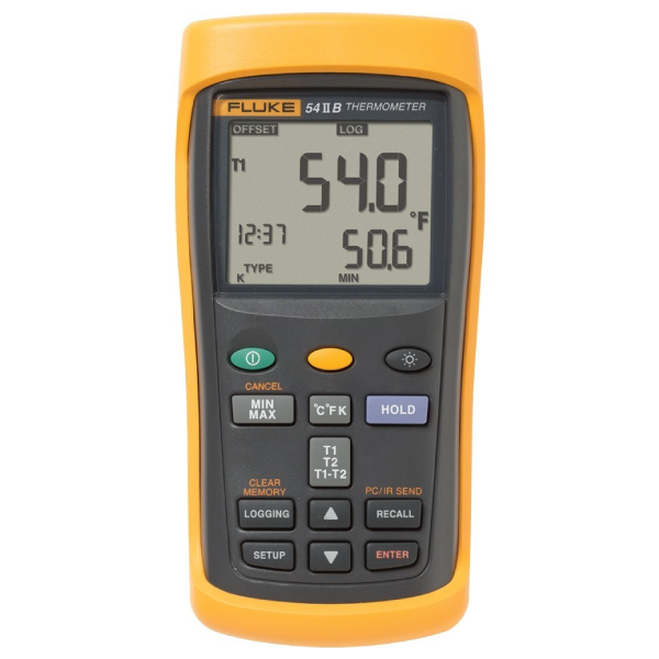 SMI Instrumenst Product FLUKE - 54 II B Thermometer (Data Logging Thermometer with Dual Input, 50Hz)