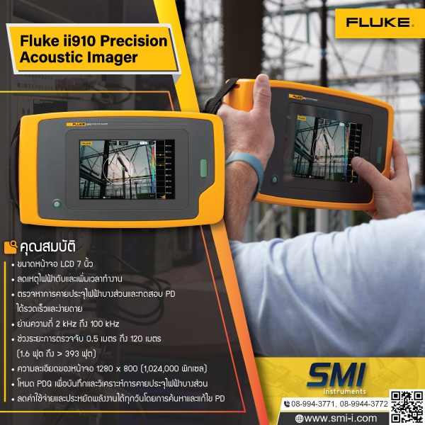 FLUKE - ii910 PRECISION ACOUSTIC IMAGER graphic information