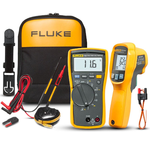 SMI Instrumenst Product FLUKE - 116/62 MAX + HVAC Multimeter/IR Thermometer Kit