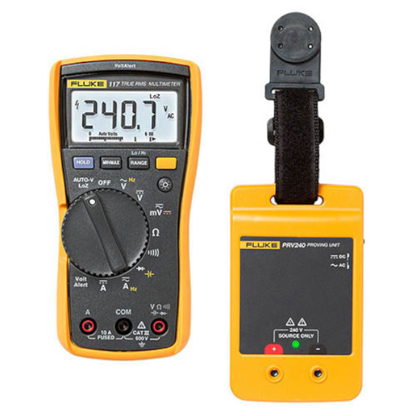 SMI Instrumenst Product FLUKE - 117/PRV240 Digital multimeter & Proving Unit Kit