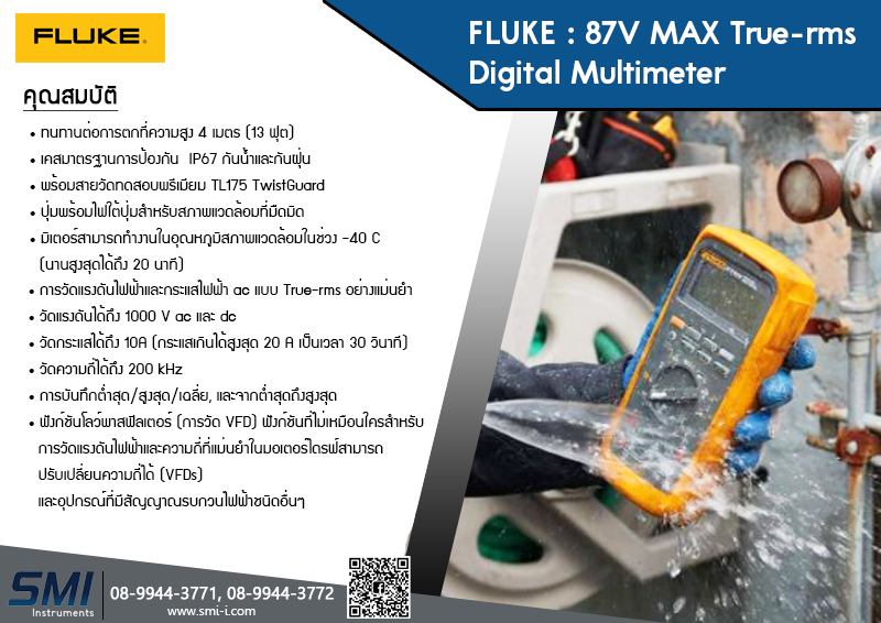 SMI info Fluke 87-5 max Digital multimeter
