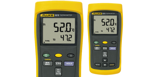 SMI Instrumenst Product FLUKE - 52 II Thermometer (Dual Probe Digital Thermometer, 50Hz)